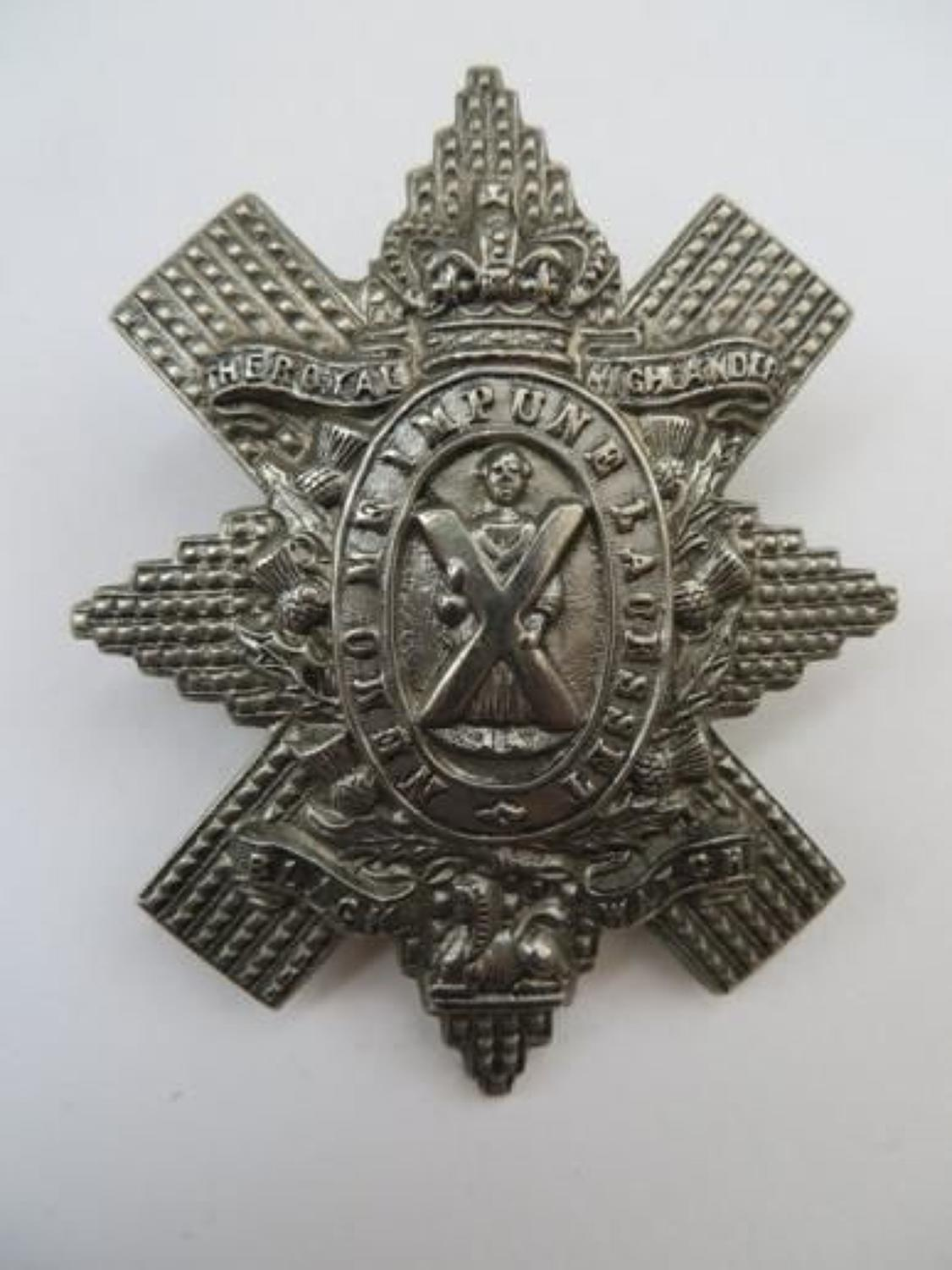 Victorian Black Watch Bonnet Badge