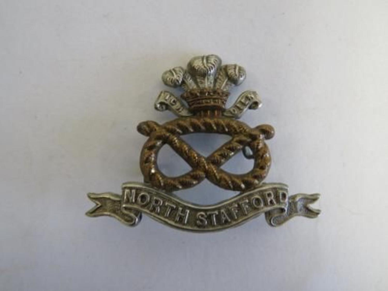 Victorian / Edwardian North Stafford Cap Badge