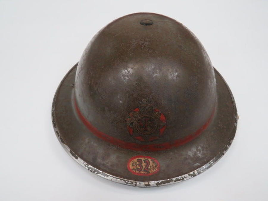 National Fire Service Woking Surrey 1939 Dated Helmet