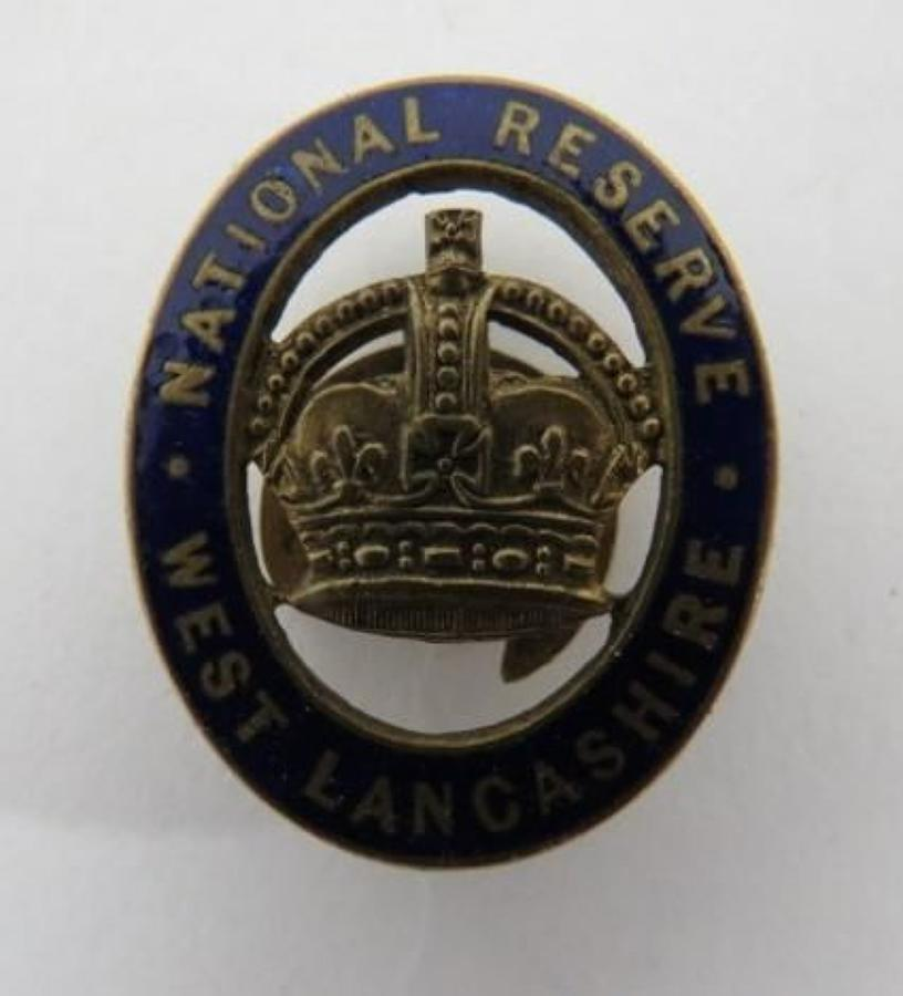 West Lancashire National Reserve Lapel Badge