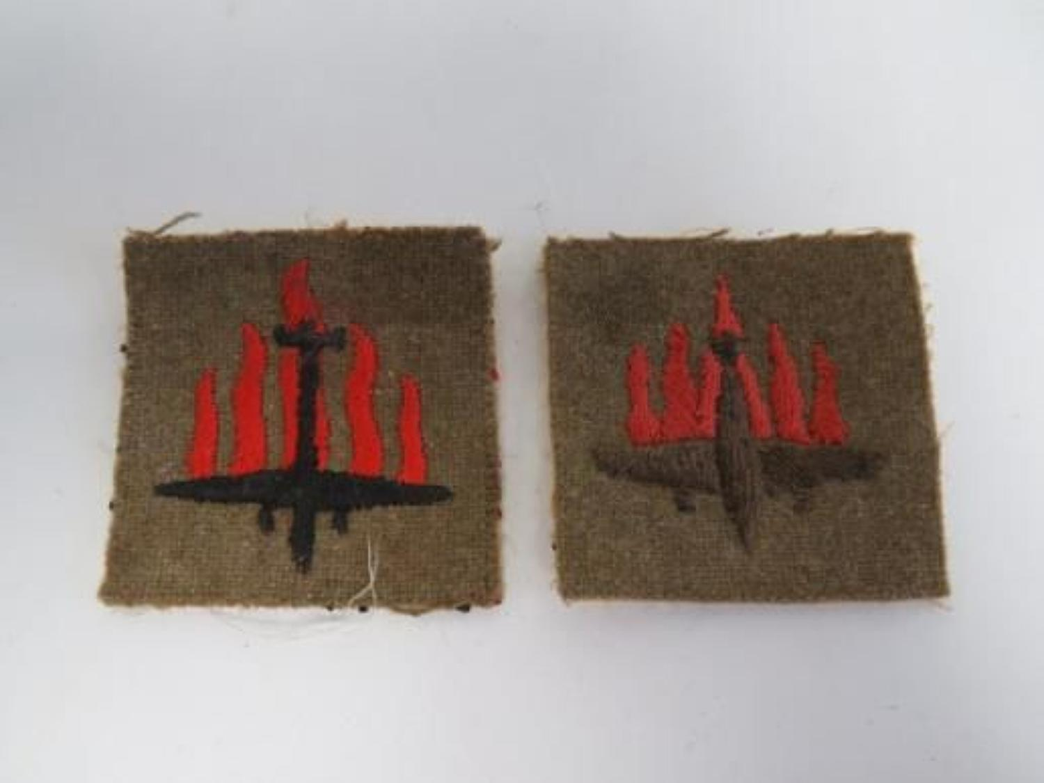 Pair of 5th Anti Aircraft Formation Badges