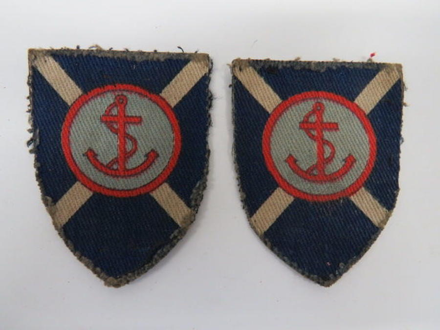 Pair of 264th Beach Brigade Formation Badges