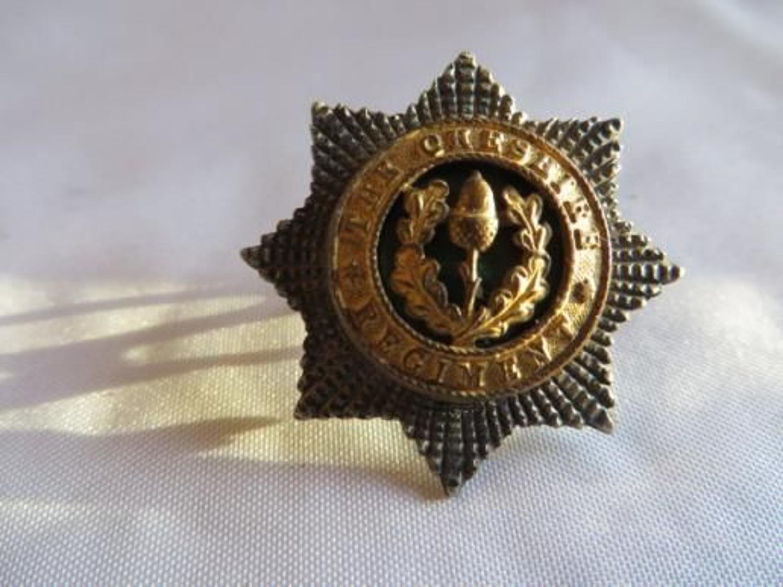 Cheshire Regiment Officers Forage Cap Badge