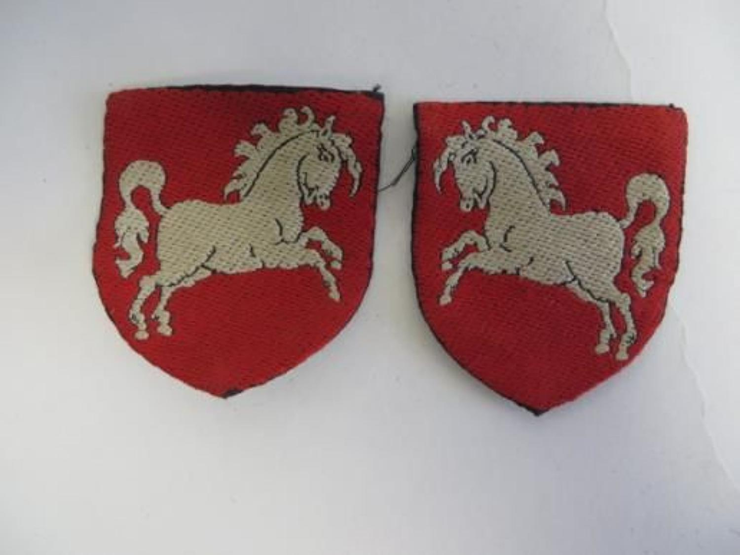 Pair of Hanover District Formation Badges