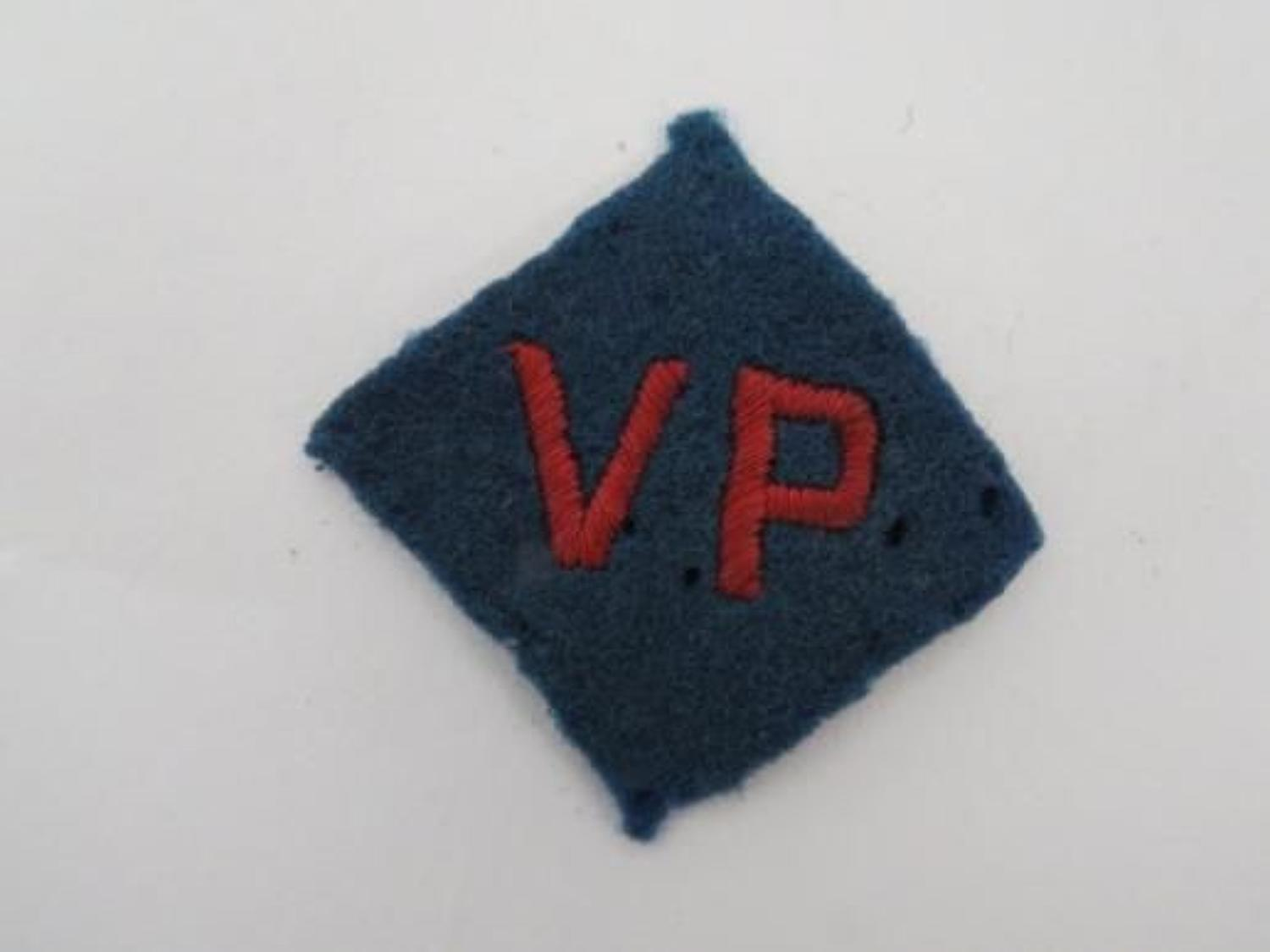 Military Police Vulnerable .Points Formation Badge