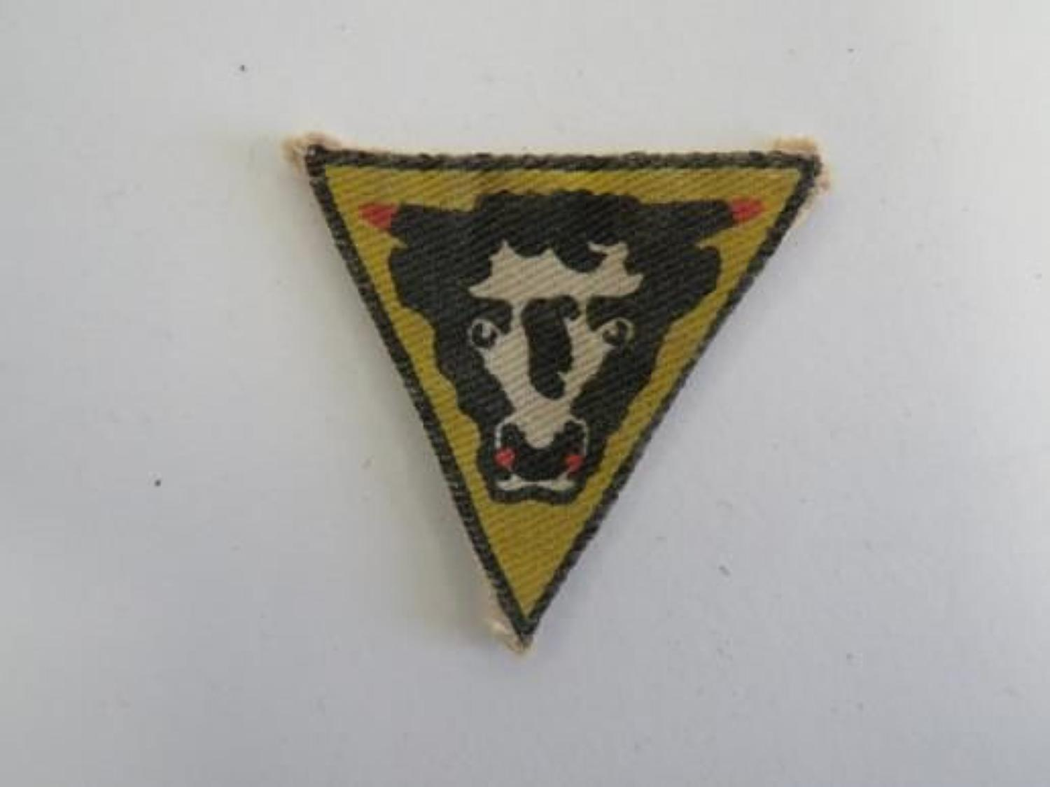 79th Armoured Division Printed Formation Badge