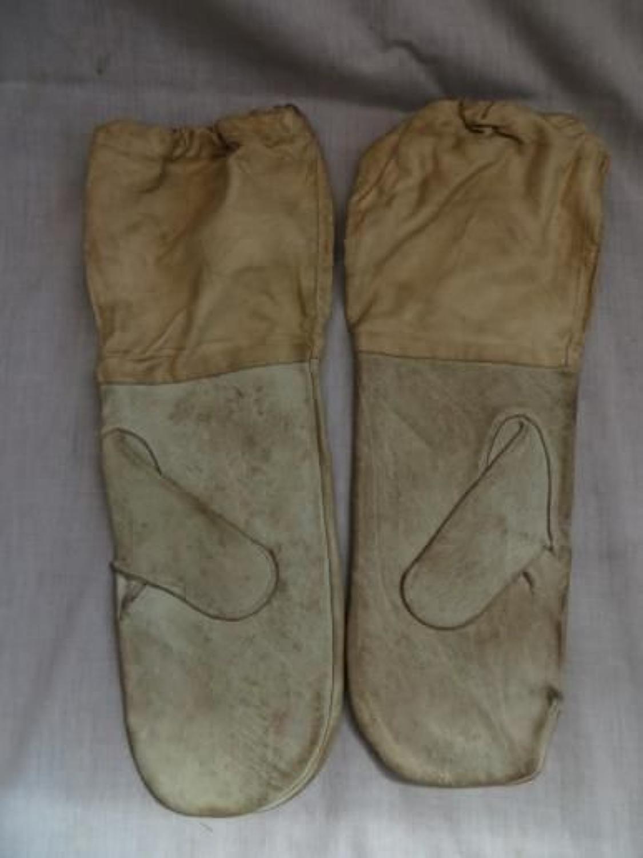 Pair 1941 Dated British Ski Gloves