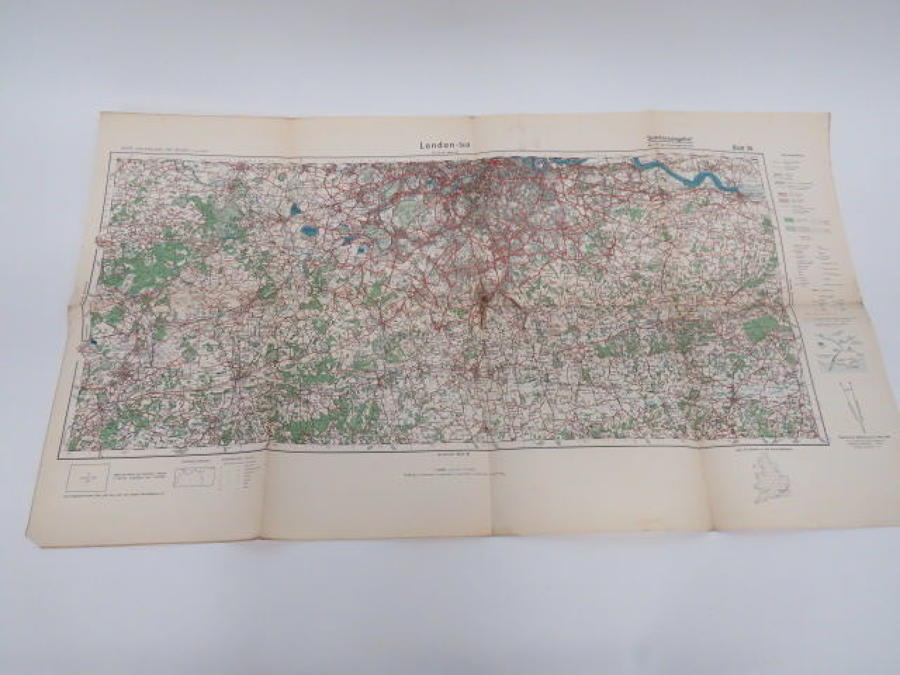 WW 2 German Invasion Map of South London