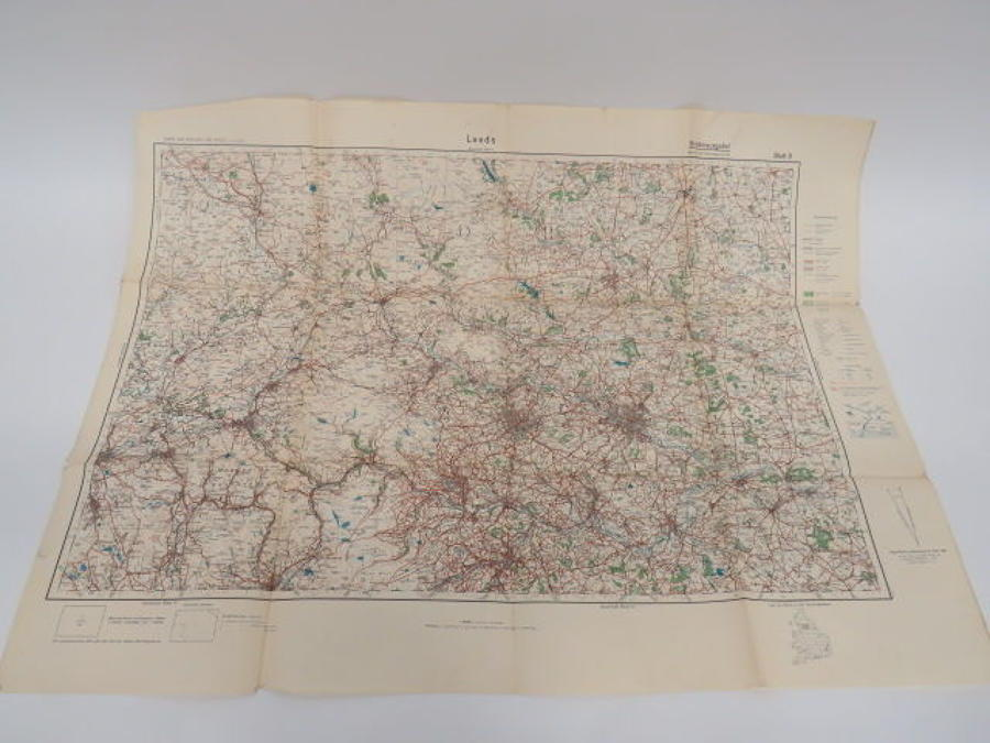 WW 2 German Invasion Map of Leeds