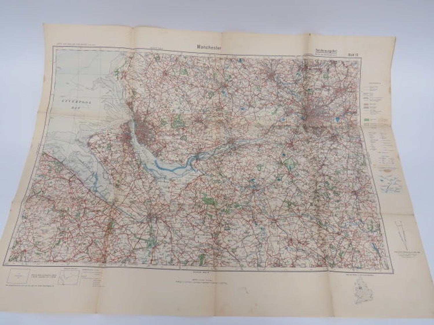 WW 2 German Invasion Map of Manchester/Liverpool