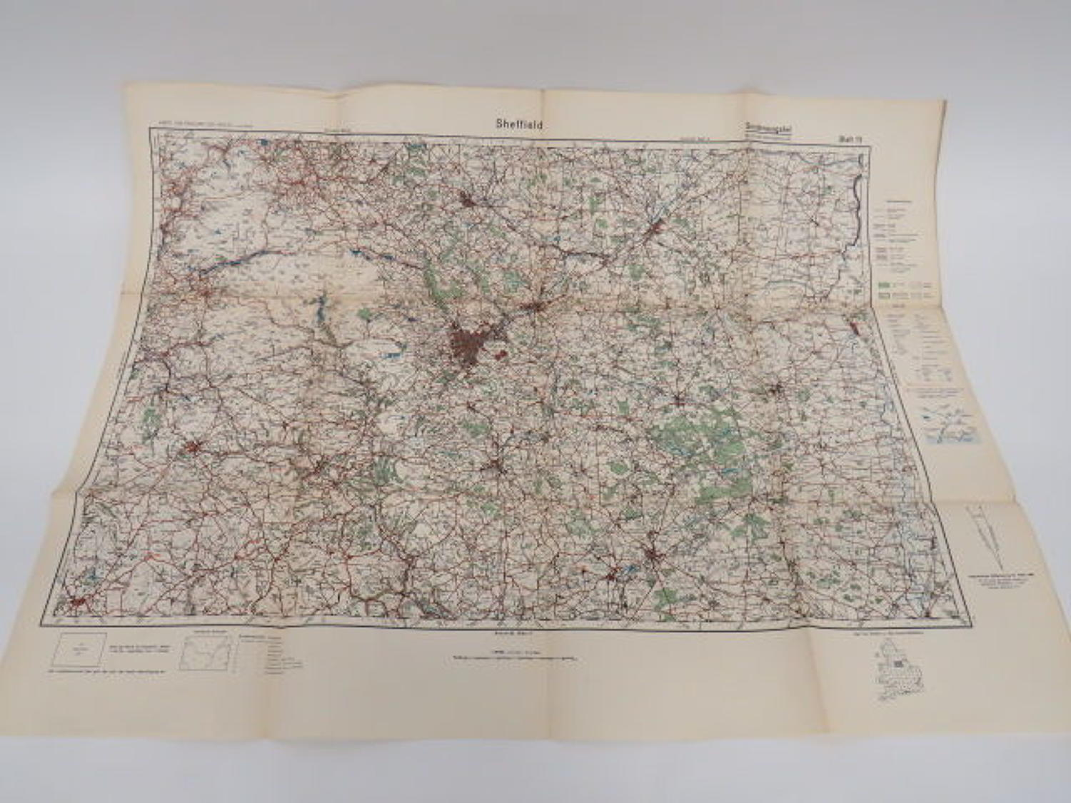 WW 2 German Invasion Map of Sheffield