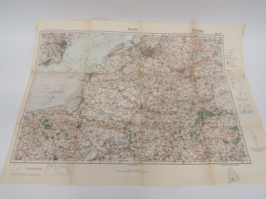 WW 2 German Invasion Map of Bristol