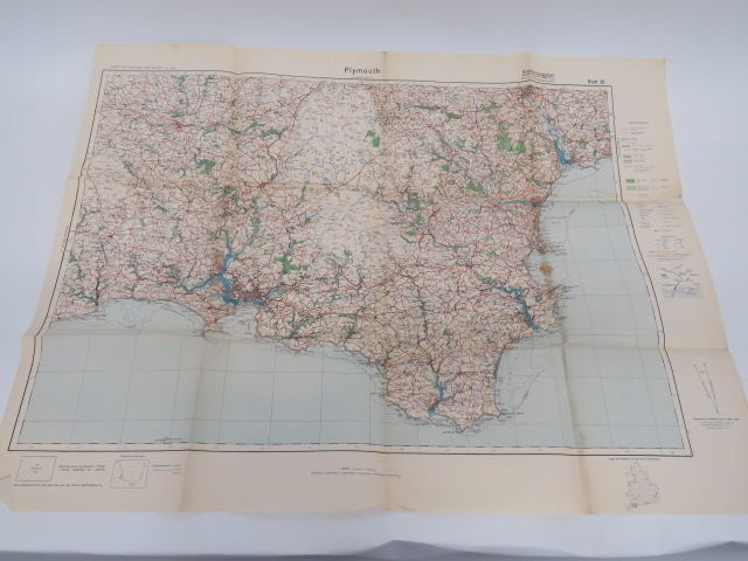 WW 2 German Invasion Map of Plymouth