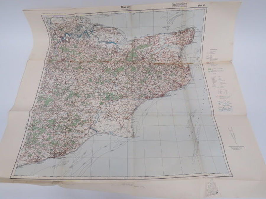 WW 2 German Invasion Map of Dover