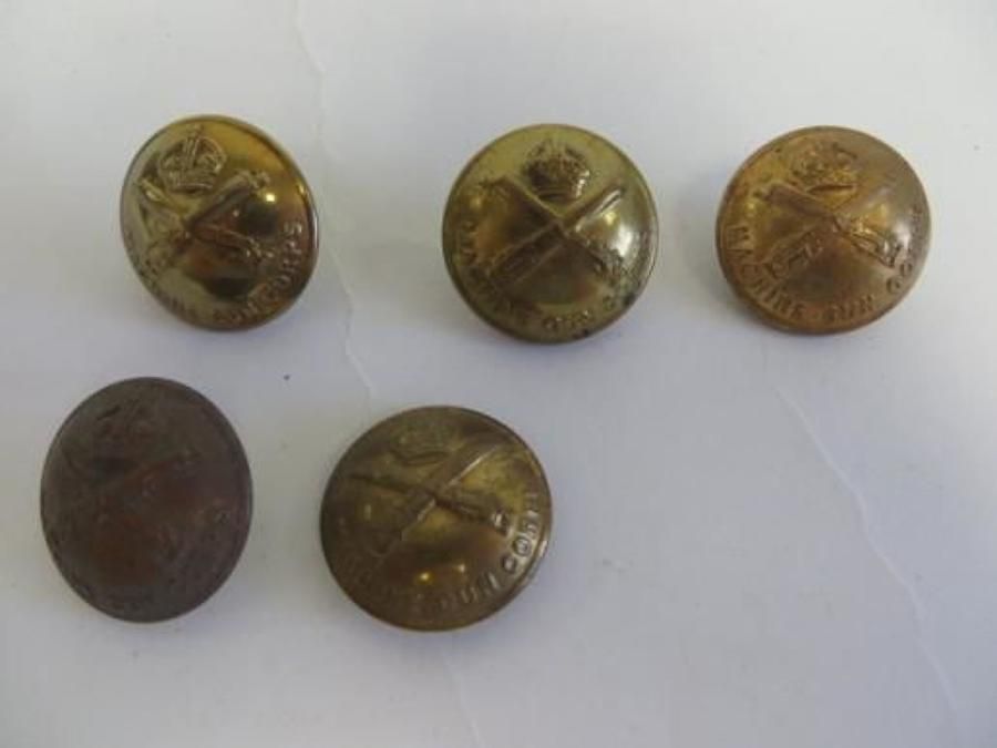 Machine Gun Corps Set of 5 Large Buttons