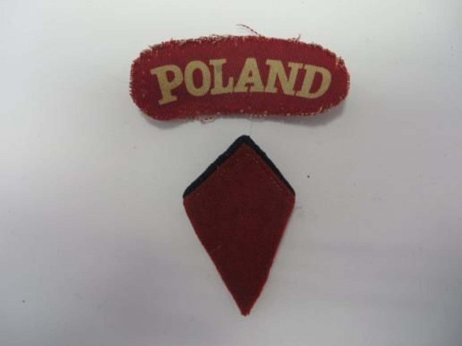 Poland Title and Collar Badge