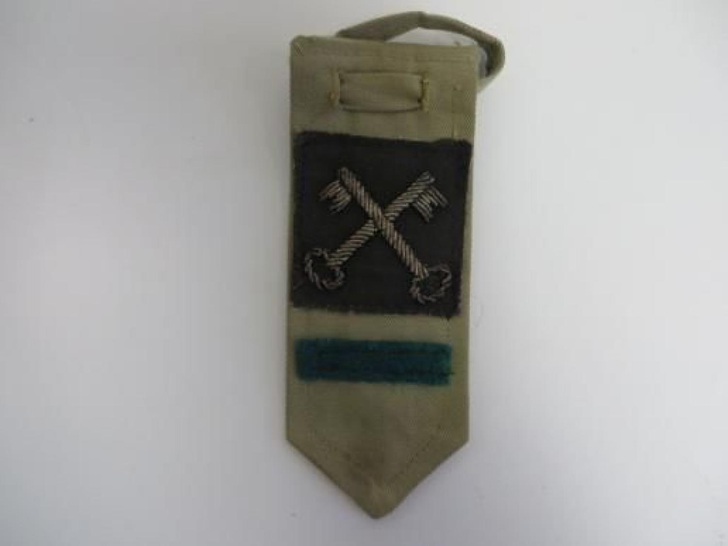 2nd Division Intelligence Corps Slip On Hanging Tab