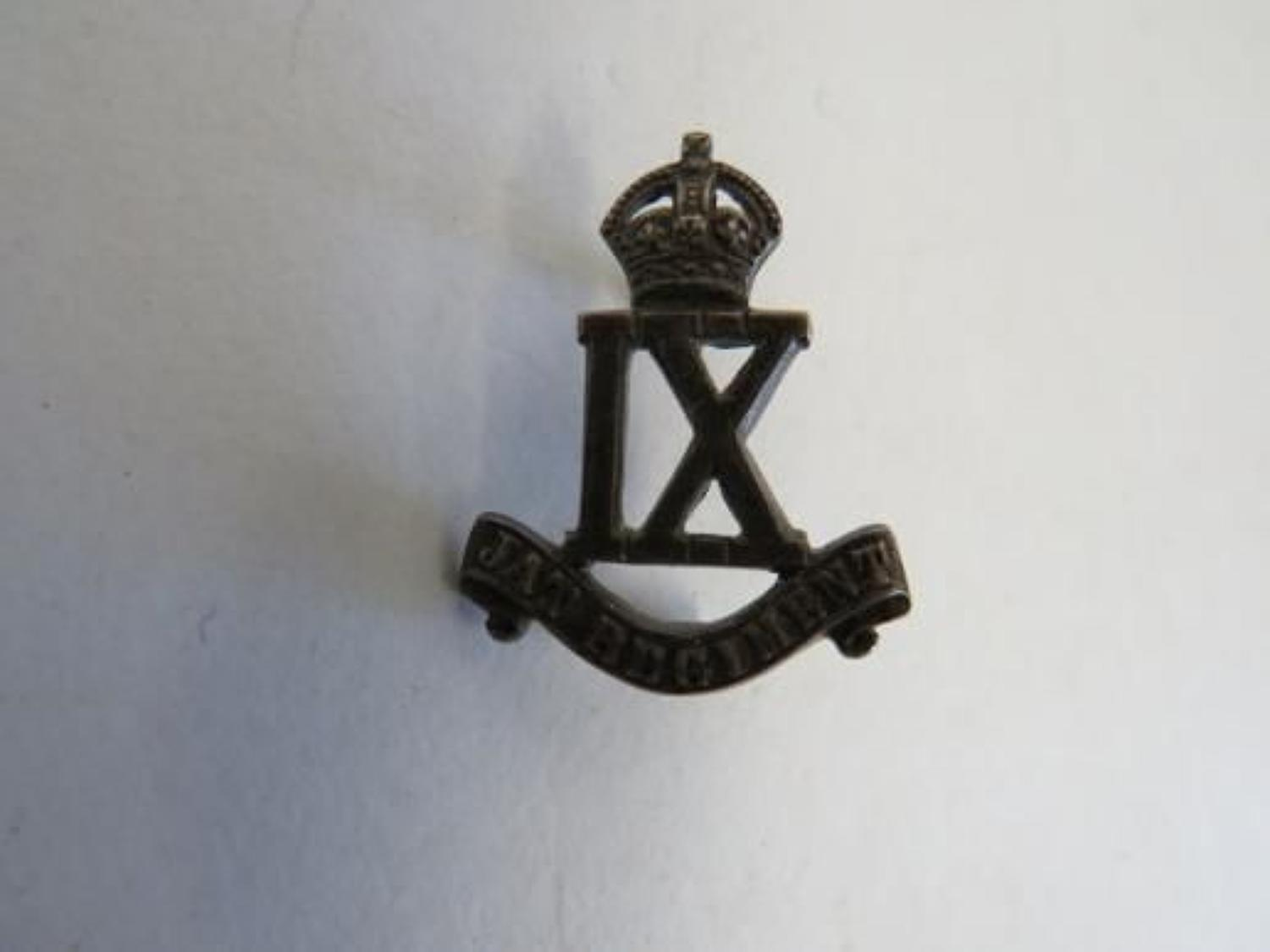 9th Jat Regiment Silver Badge