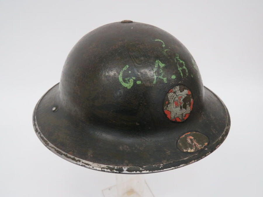 Early War National Fire Service Steel Helmet