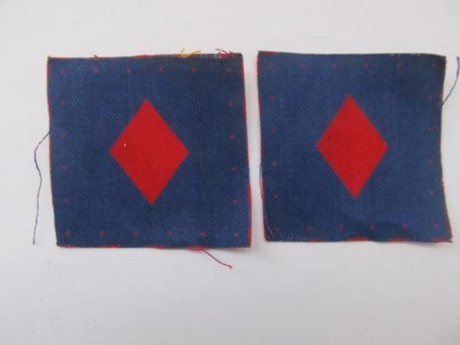 Pair Printed 61st Infantry Division Formation Badges