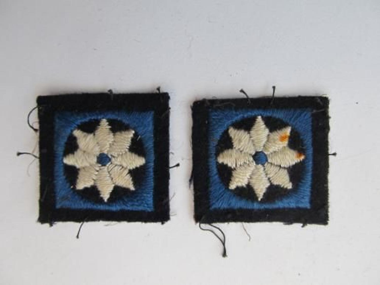 Pair 47th London Division Formation Badges