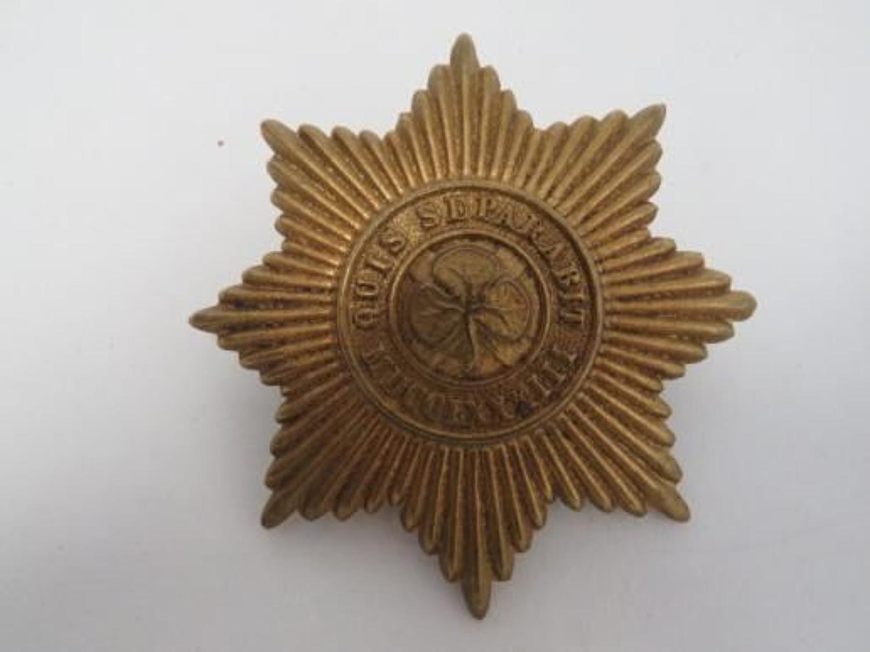 Irish Guards Pith Helmet Pagri Badge
