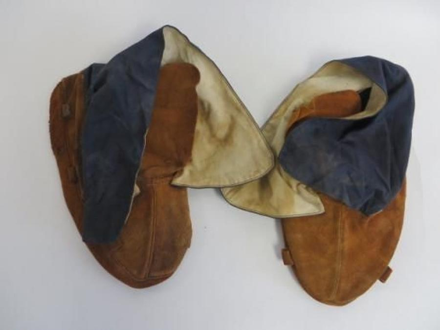 Scarce WW 2 American Air Force Cold Weather Inner Boots
