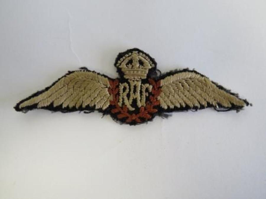 Pre War Royal Air Force Pilots wing