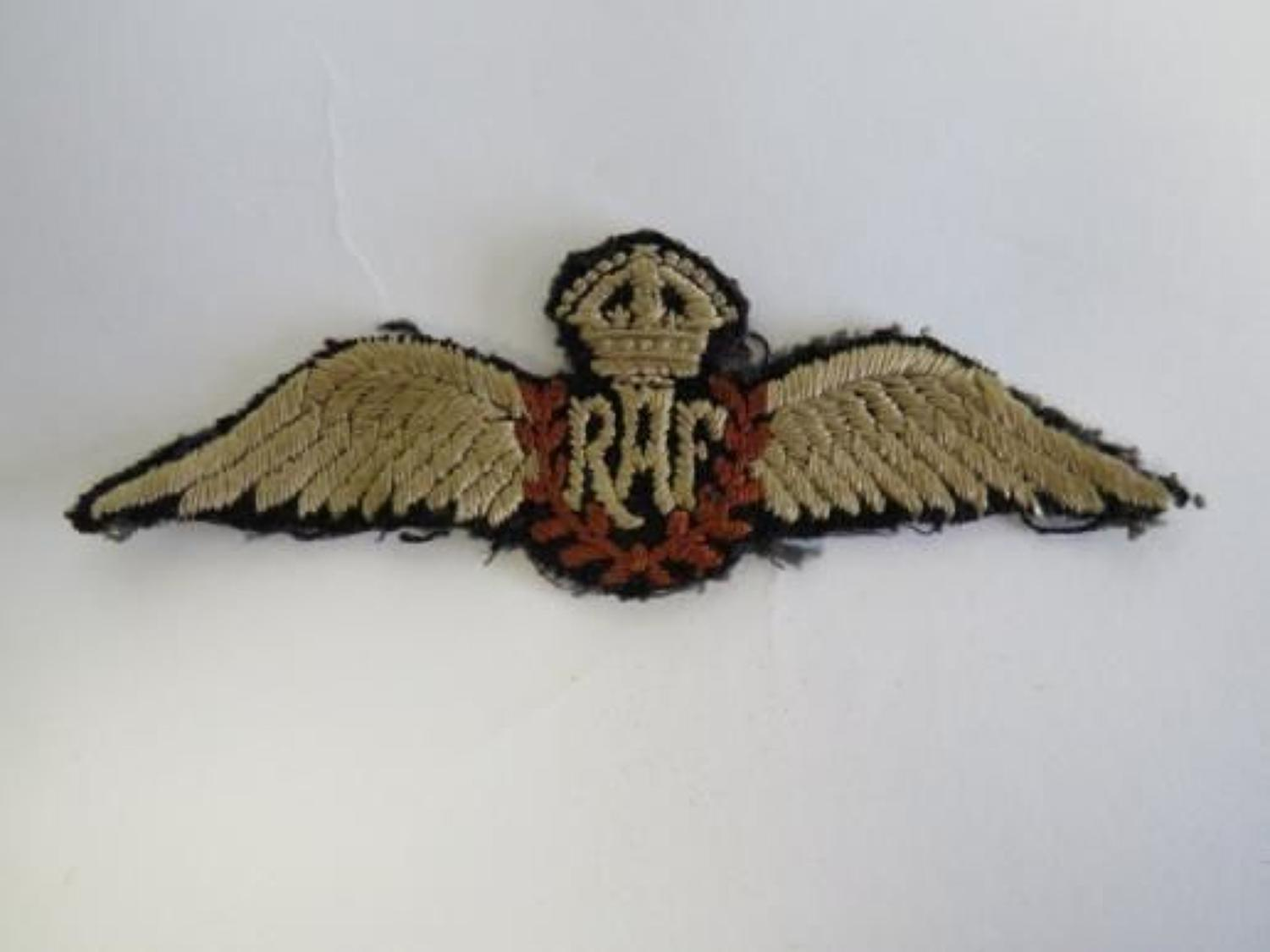 Pre War Royal Air Force Pilots wing