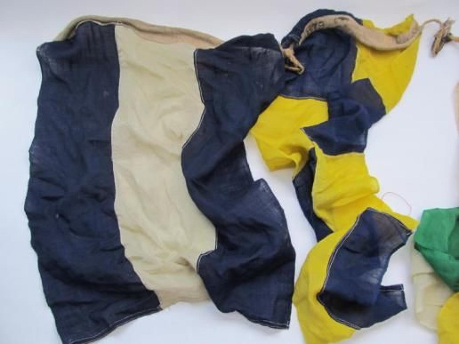 Set of Five WW1/WW2 Naval Signal Flags