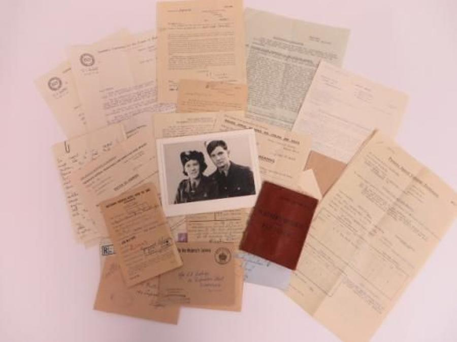 WW2 A.T.S Paybook and Paperwork