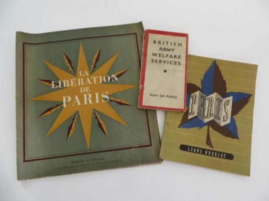 WW2 Liberation of Paris Paperwork