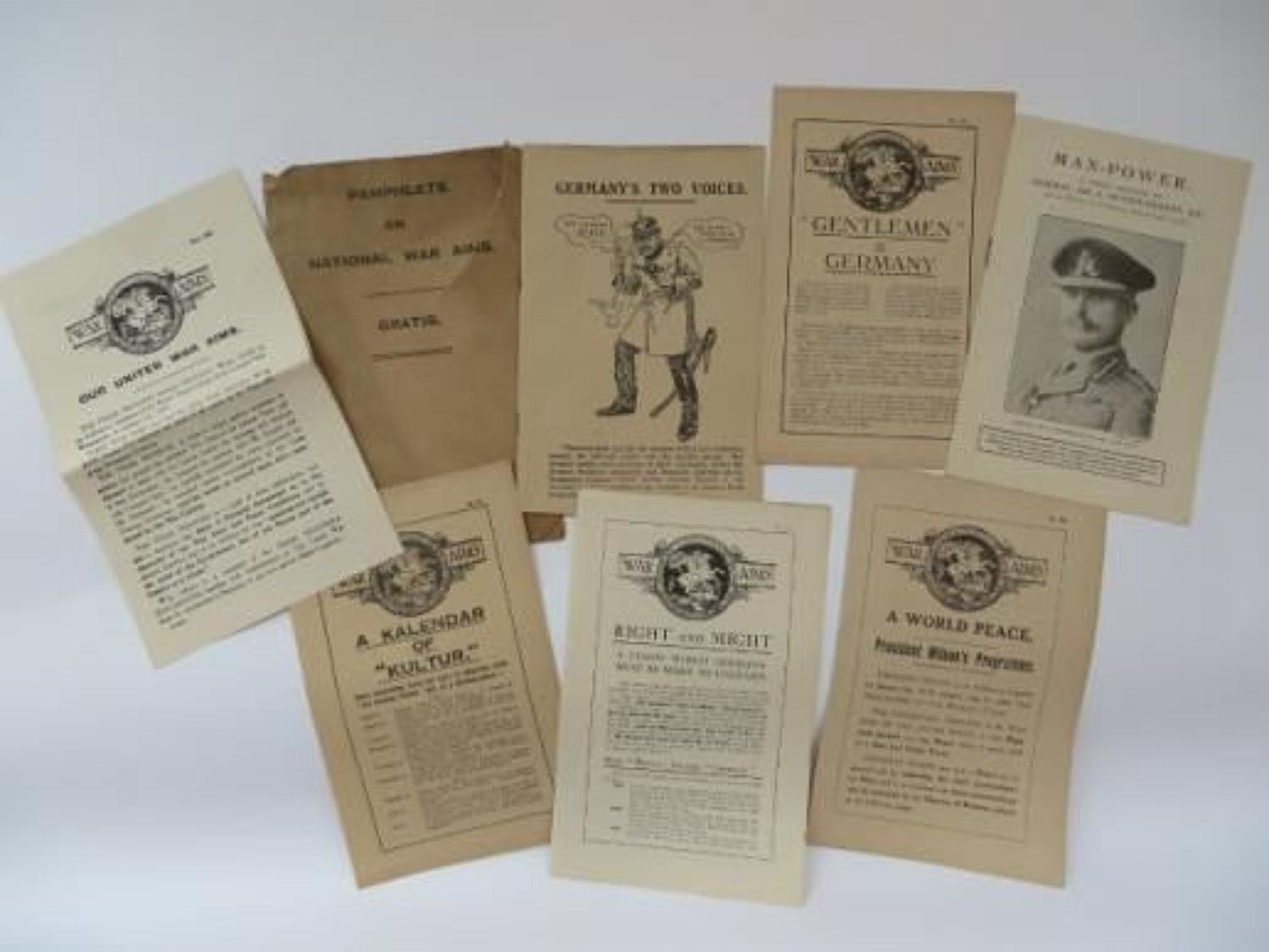 Inter War Pamphlets on National War Aims