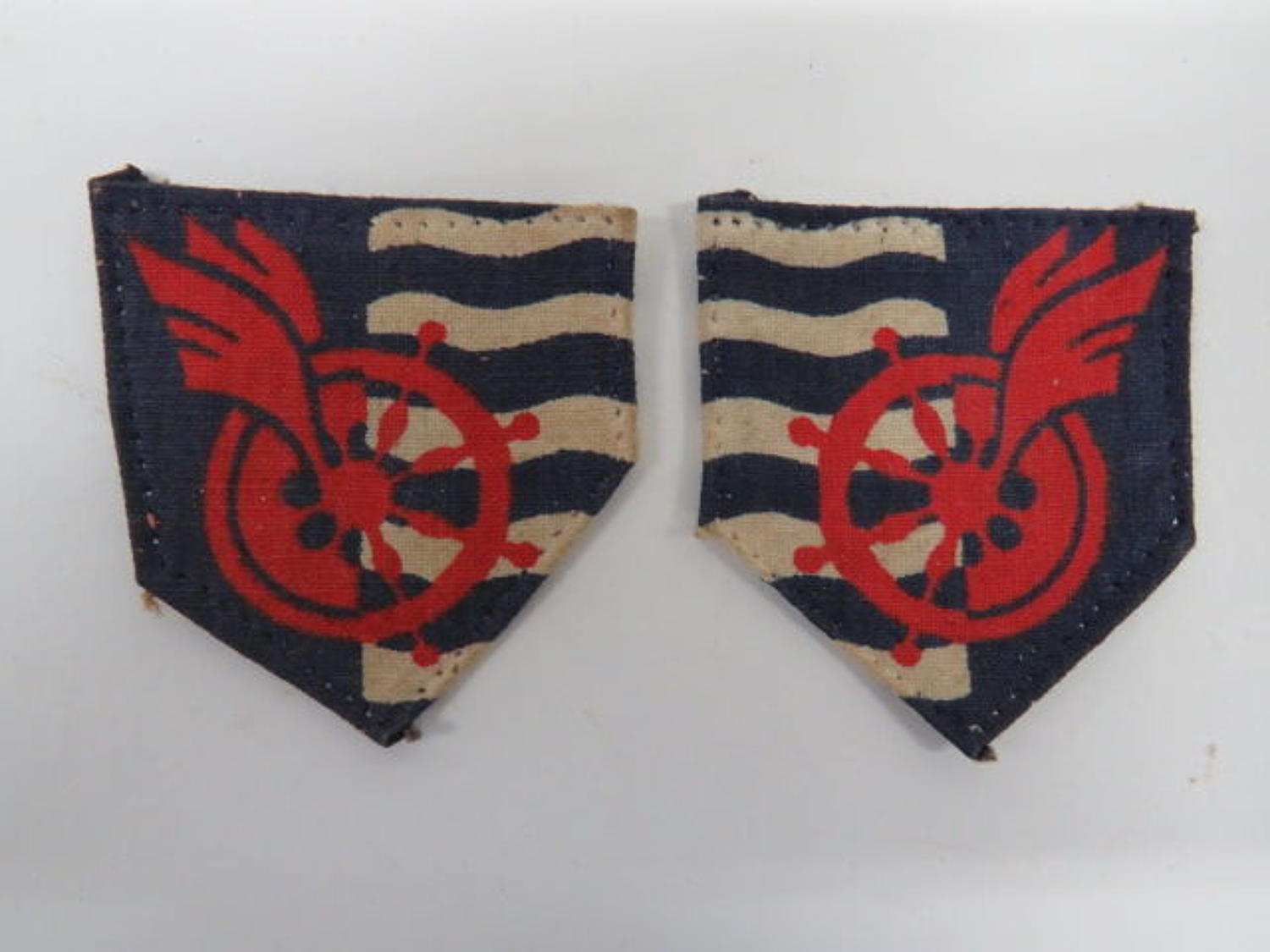 Facing Pair of Royal Engineers Movement Control Formation Badges