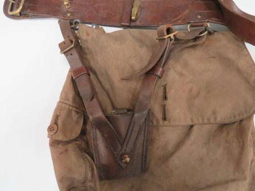WW 1 Officer Haversack and Sam Browne Belt Set in All Items