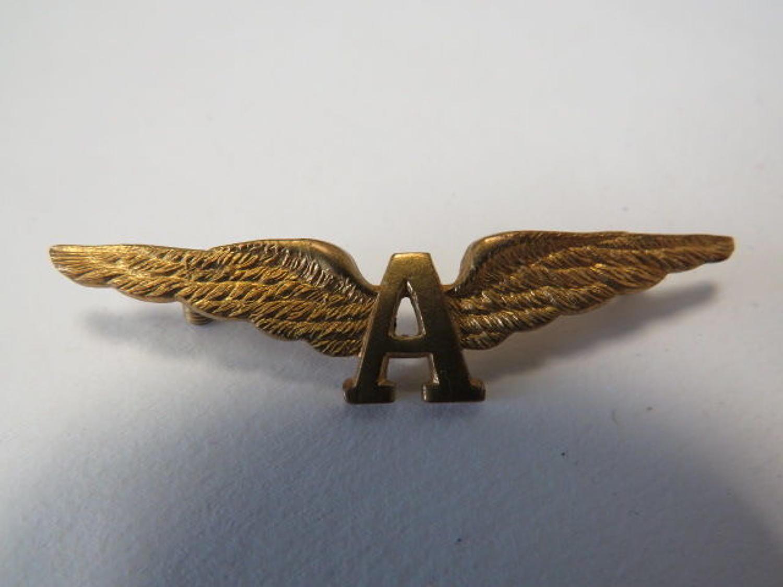 WW 1 Royal Naval Air Service Cuff Wing