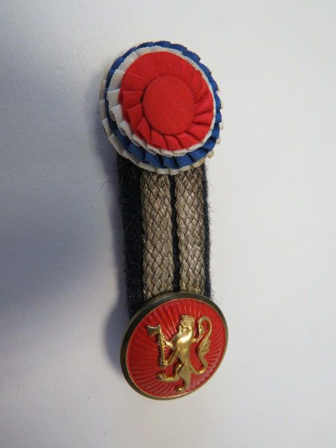Rare WW 2 Norway R.A.F Attached Offices Forage Cap Badge