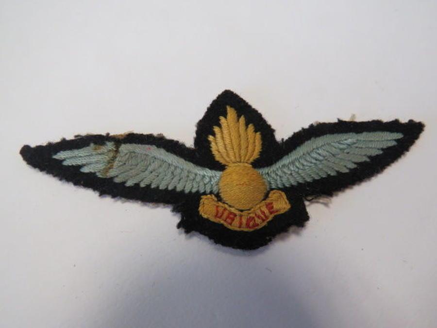 Royal Artillery Spotter Pilot Wings