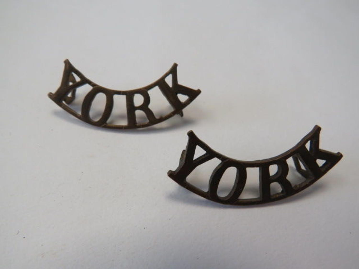 Pair YORK Shoulder Titles