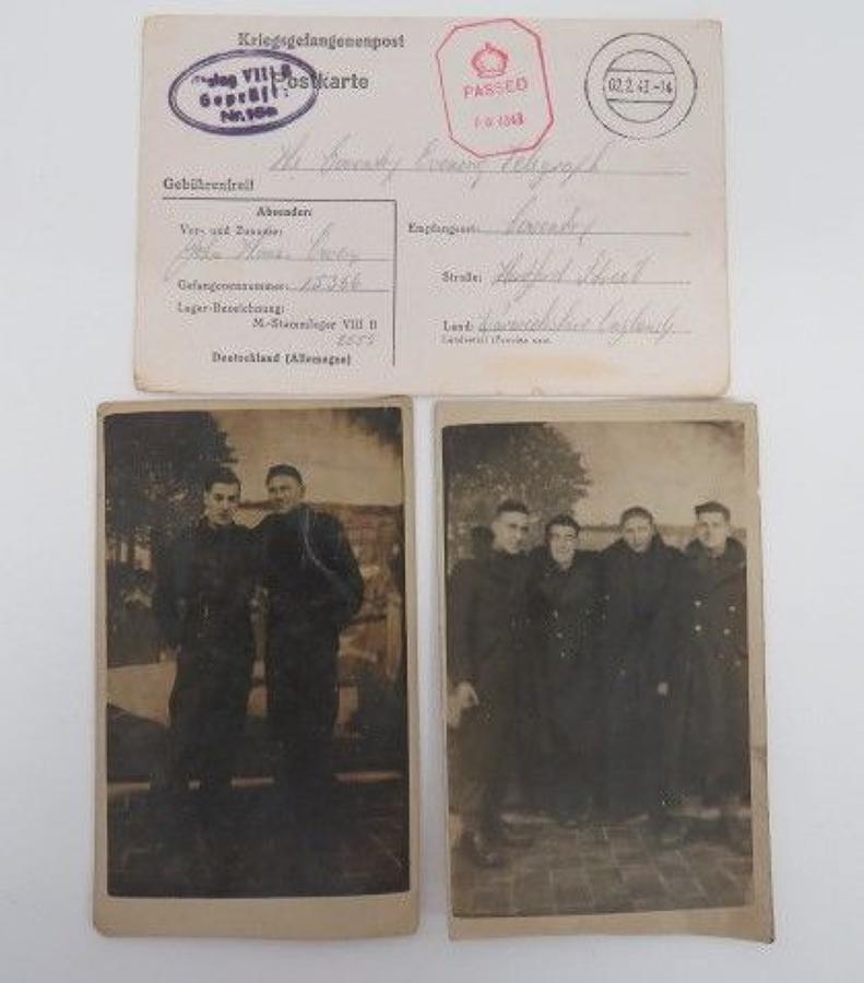 Stalag VIII B POW Postcard
