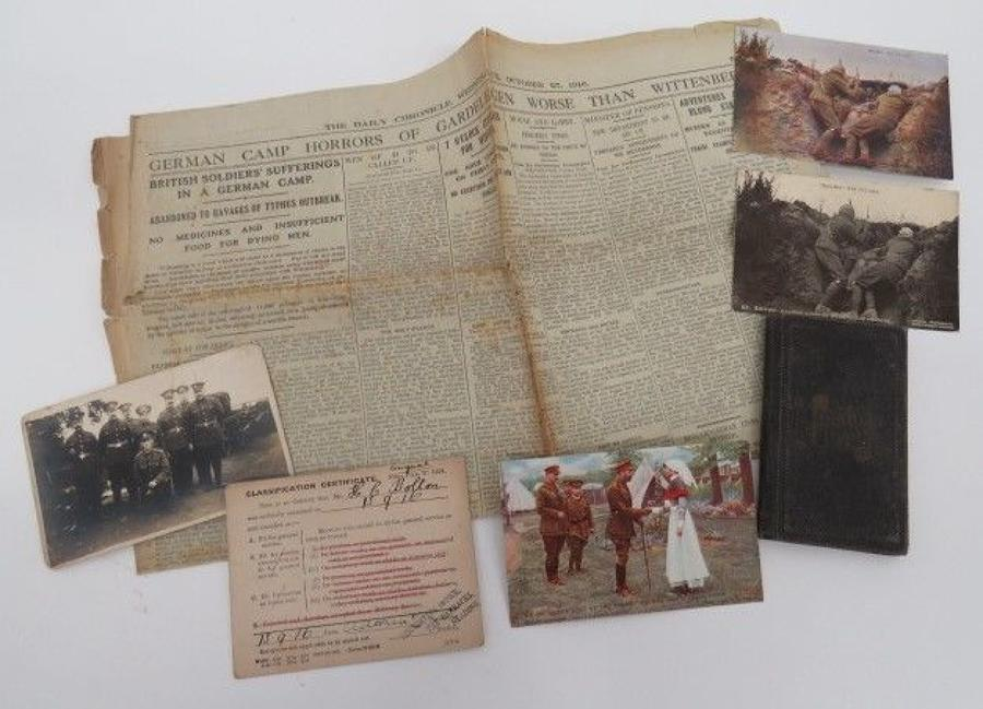 Good Selection of WW 1 Paperwork
