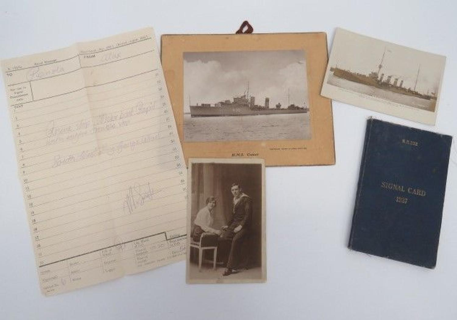Selection of Interwar Naval Paperwork