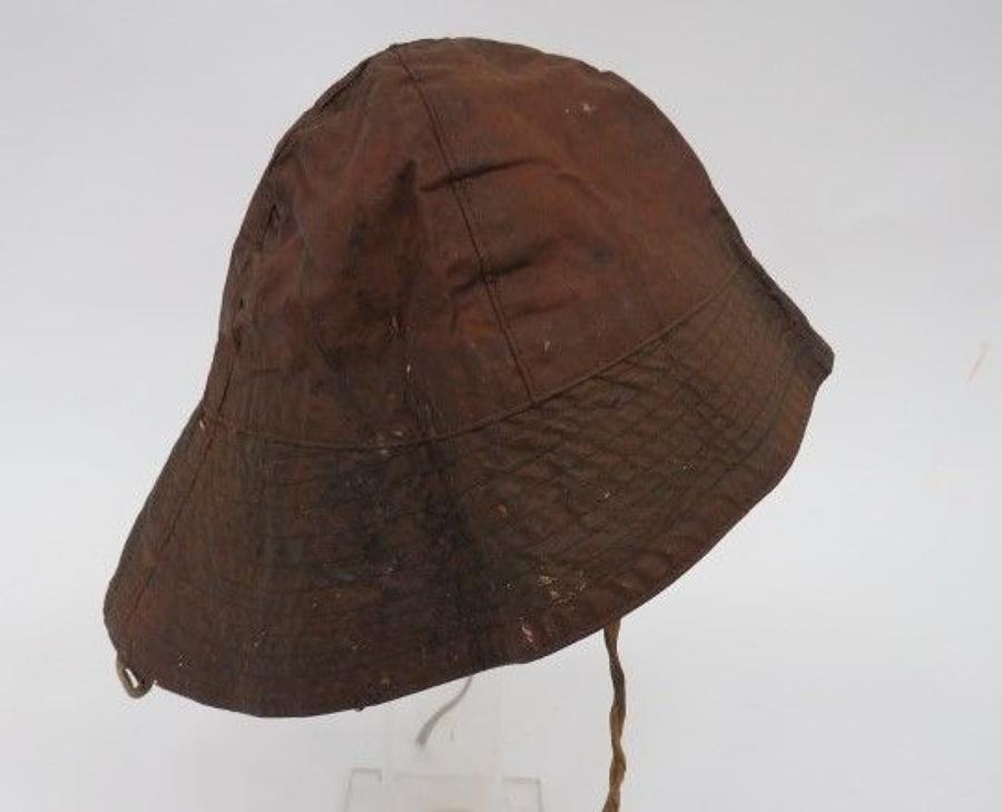 Rare Royal Navy Foul Weather Sowester Hat