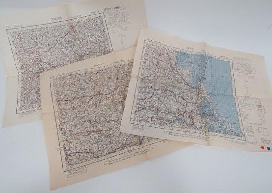 Set of 3 WW 2 Invasion Maps of Italy