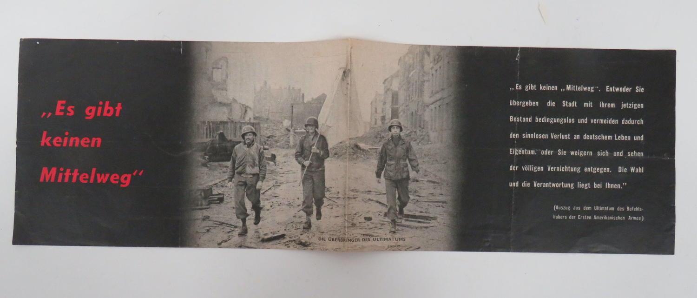 WW 2 German Propaganda Leaflet WG 17B
