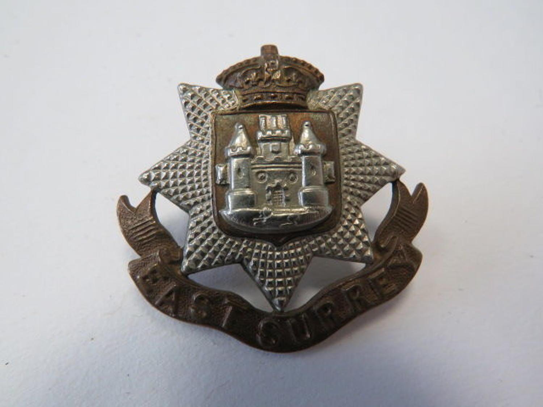 Edwardian East Surrey Cap Badge