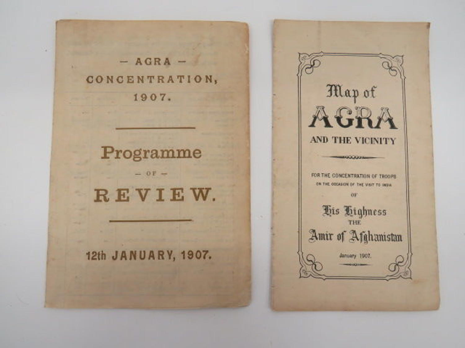1907 Agra India Military Review Pamphlets