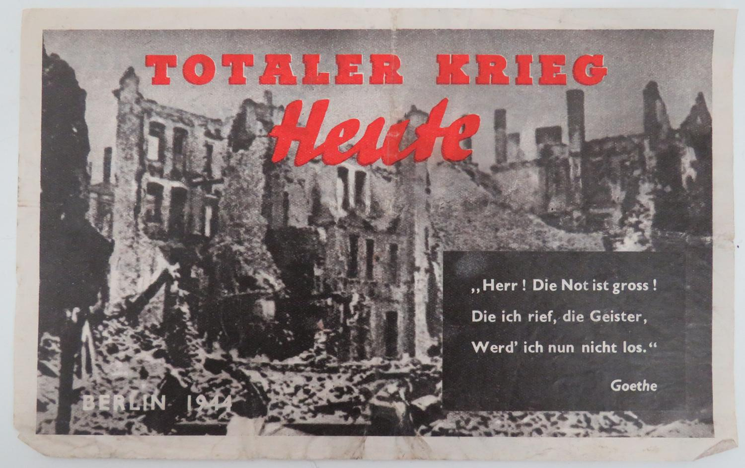 WW 2 German Propaganda Leaflet G2