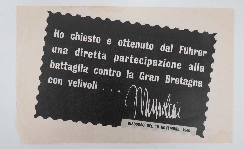 WW 2 Italian Propaganda Leaflet I 11