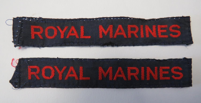 Pair of Royal Marine Titles